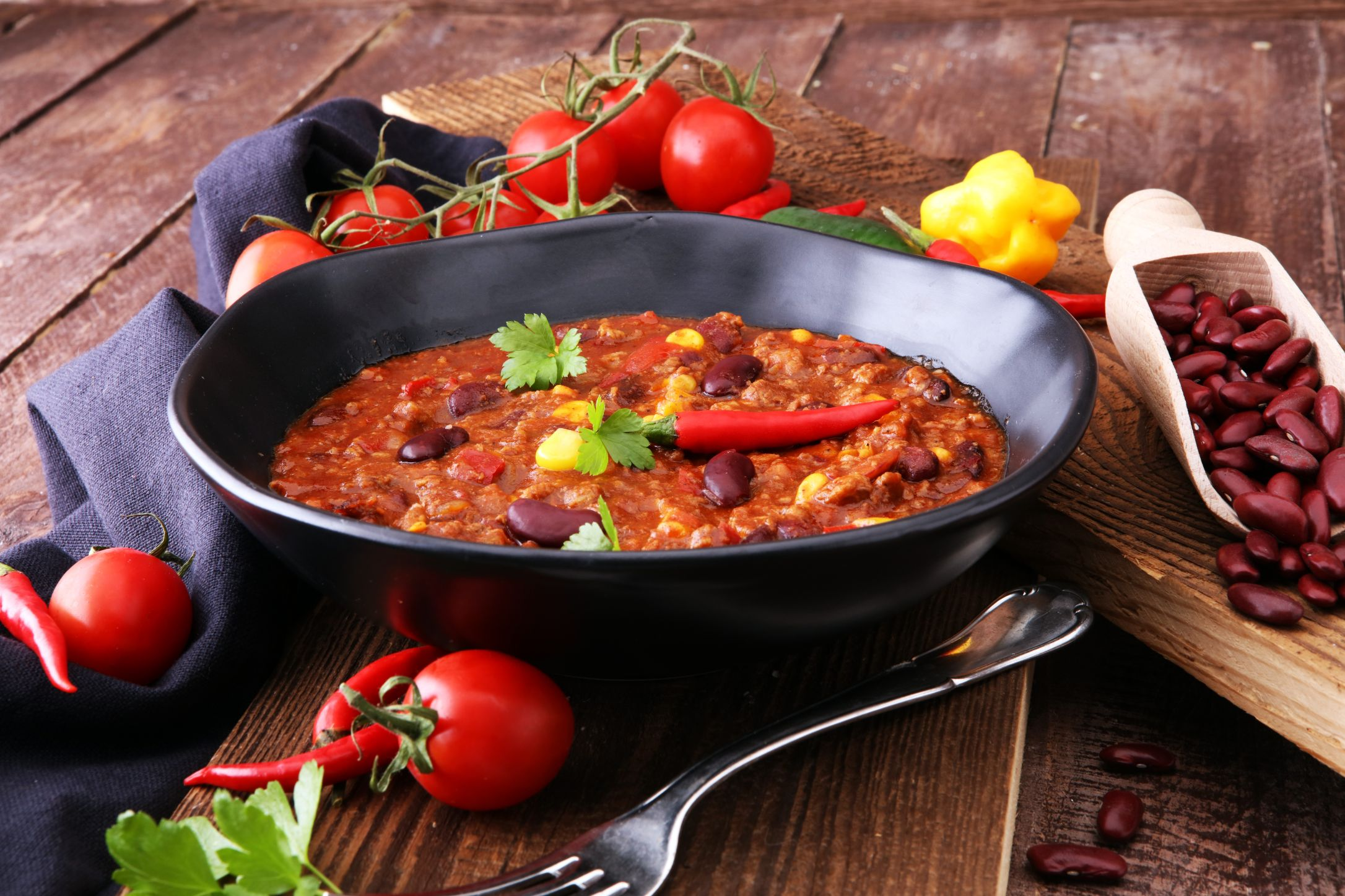 Červené fazole s chilli
