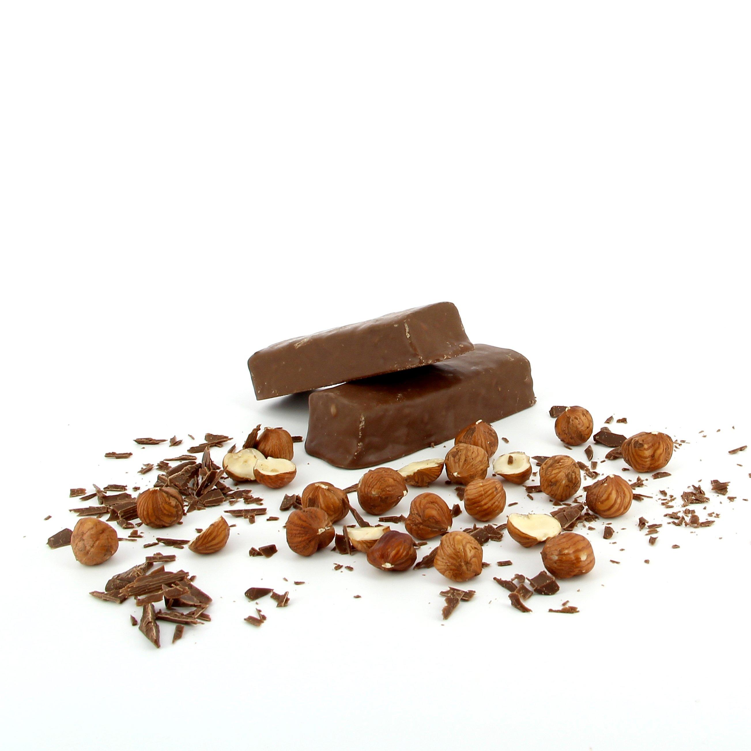 Čokoládová tyčinka s lískovými oříšky