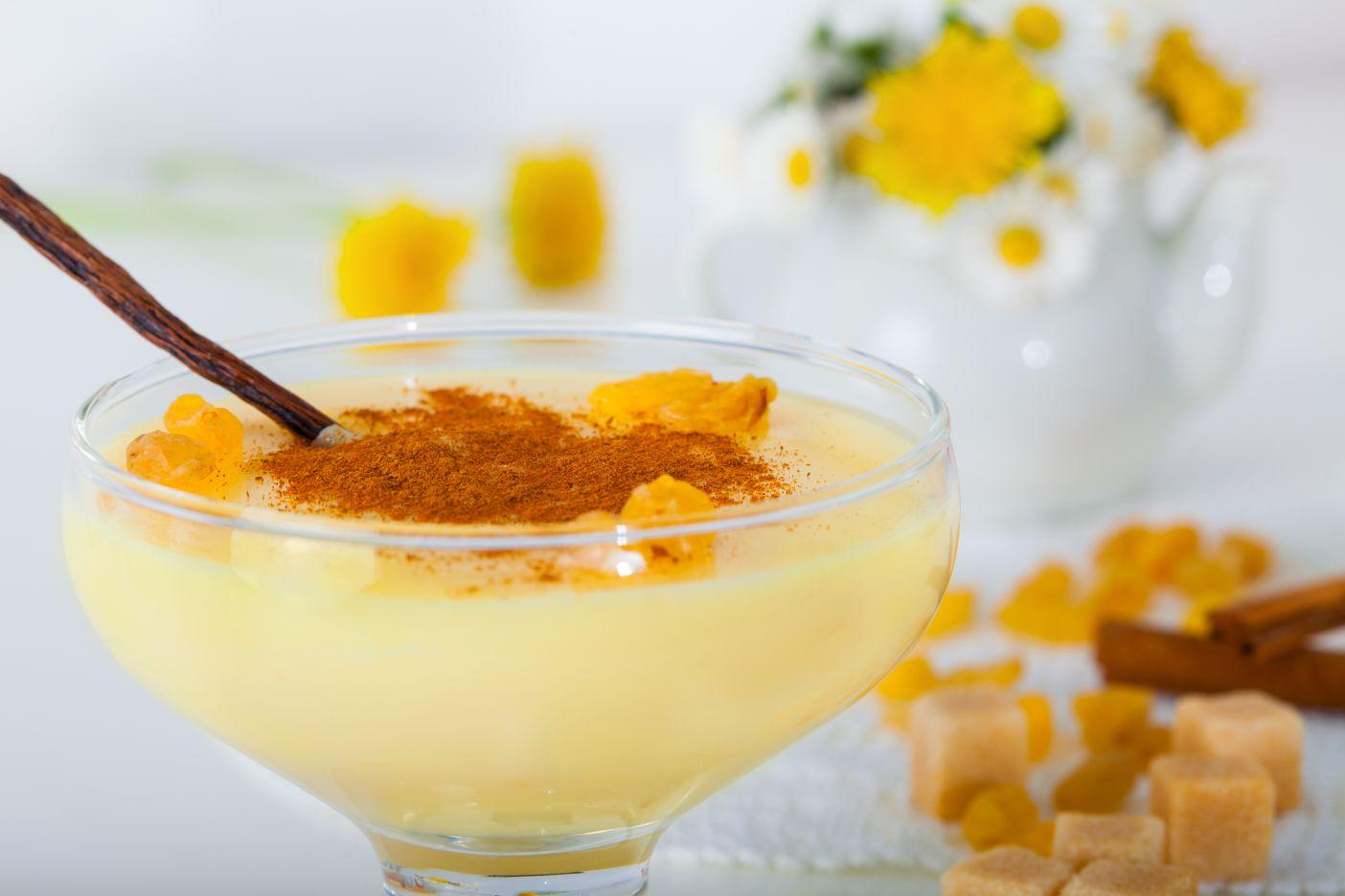 Vanilková pěna s karamelem
